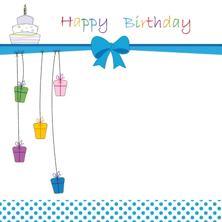 birthday invitation: Cute color card on special day Illustration