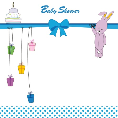 Cute baby background on birthday or shower Ilustracja