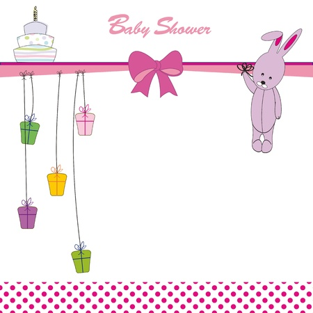 Cute baby background on birthday or shower Stock Vector - 12747223