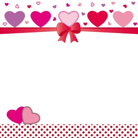 Cute card on valentines day or wedding Illustration