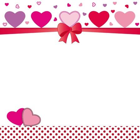 happy feast: Cute card on valentines day or wedding Illustration
