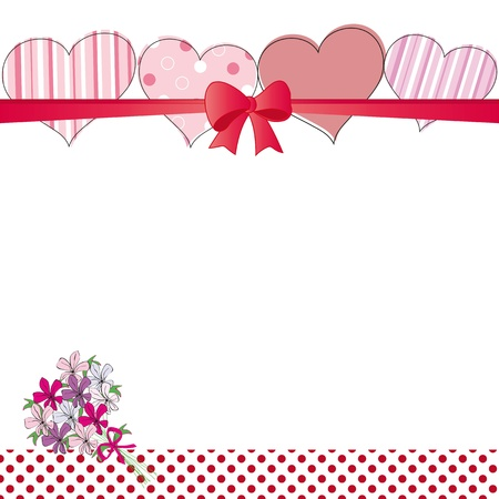 cute cards: Cute card on valentines day or wedding Illustration