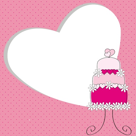 Cute card on valentines day or wedding Vector