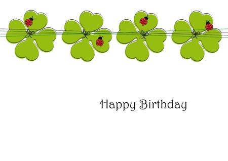 four fourleaf: Scheda Carino il giorno speciale, ad esempio compleanno