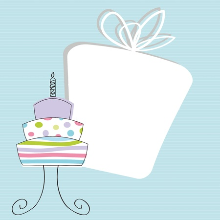 Cute card on special day, birthday example Stock Vector - 12747240