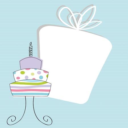 geburtstag rahmen: Nette Karte An einem besonderen Tag, Geburtstag Beispiel Illustration