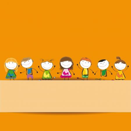 ni�os jugando en la escuela: Los ni�os peque�os y la sonrisa con bandera