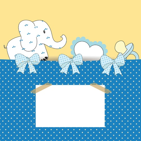Cute baby background or birthday or shower Vector
