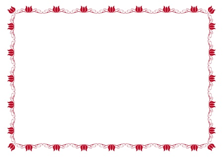 Cute, simple frame you can use like diploma frame Illustration