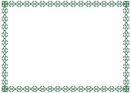 Cute, simple frame you can use like diploma frame Stock Vector - 13362753