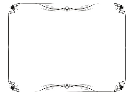 dividing: Cute, simple frame you can use like diploma frame Illustration