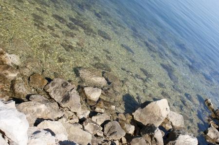 cute seaside on Pag island on Croatia photo