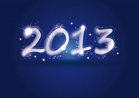 Cute and elegant card on New Year 2013 Vector