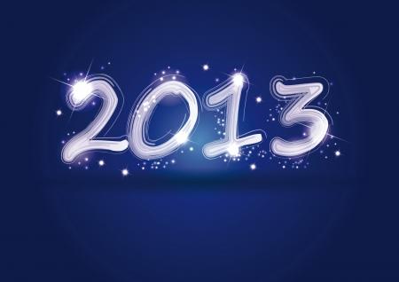 Nette und elegante Karte am Neujahrstag 2013 Illustration