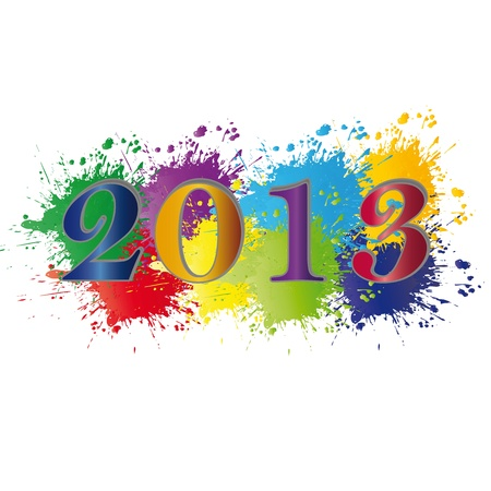 Cute and colorful card on New Year 2013 Stock Vector - 14594165