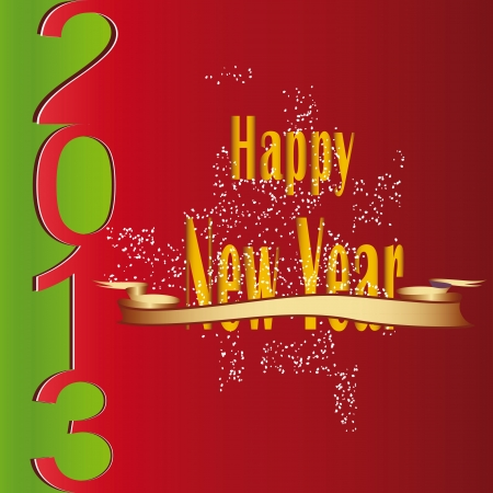 Cute and modern card on New Year 2013 Stock Vector - 14594174