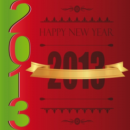 Cooncept and modern card on New Year 2013 Stock Vector - 14594118