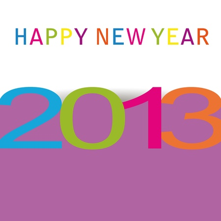 Simple and modern card on New Year 2013 Vector