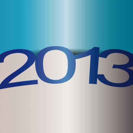 Simple and cute card on New Year 2013 Vector