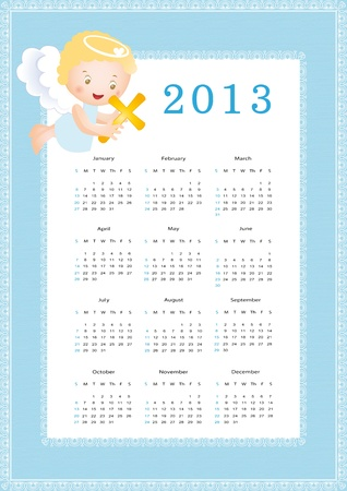 Cute calendar on New Year 2013 for kids Stock Vector - 14719859