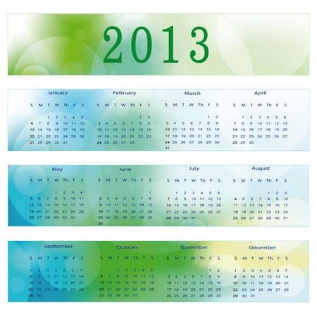 Cute and abstract calendar on New Year 2013 Stock Vector - 14719826