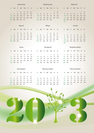 Cute and abstract calendar on New Year 2013 Stock Vector - 14719844