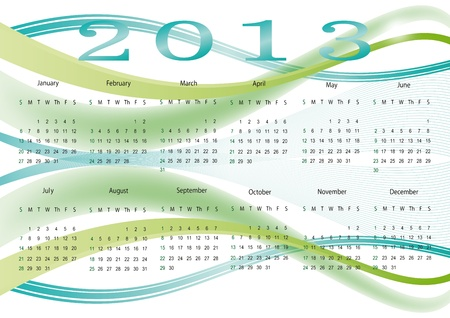 Cute and abstract calendar on New Year 2013 Stock Vector - 14719842