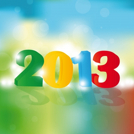 Cute and colorful card on New Year 2013 Stock Vector - 14990458