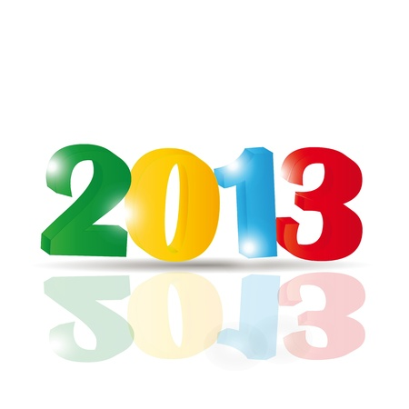 Cute and colorful card on New Year 2013 Vector