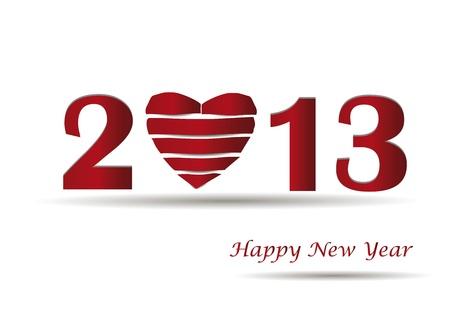 Cooncept-Karte am Neujahrstag 2013 mit Herz