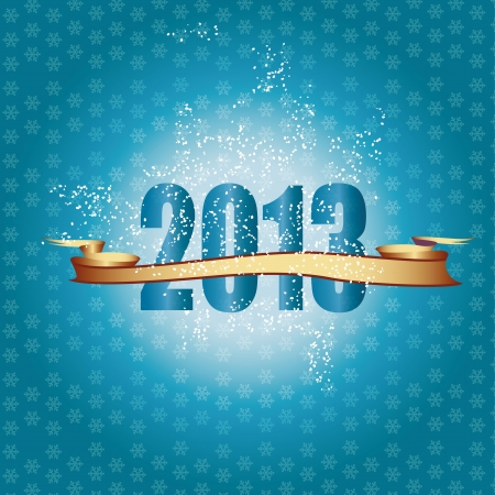 Cute and elegant card on New Year 2013 Stock Vector - 14990461