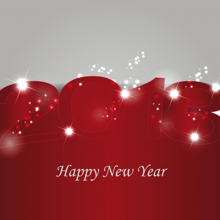 Cute and elegant card on New Year 2013 Stock Vector - 14990456