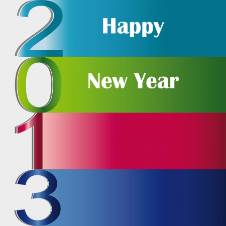 Cooncept and modern card on New Year 2013 Stock Vector - 15017725