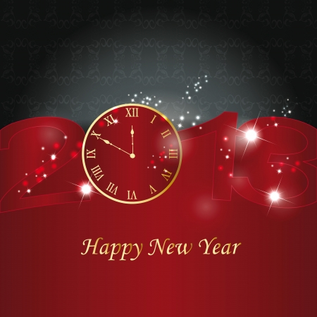 Cute and elegant card on New Year 2013