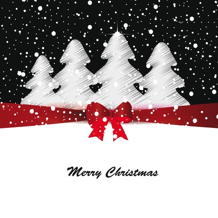 Elegant and cute Merry Christmas and New Year card Illustration