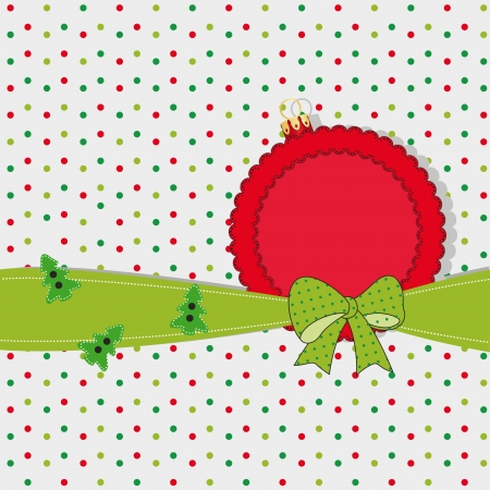 Cute and original new card on Christmas Vector
