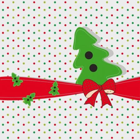 Nette und originelle neue Karte zu Weihnachten Standard-Bild - 15312867