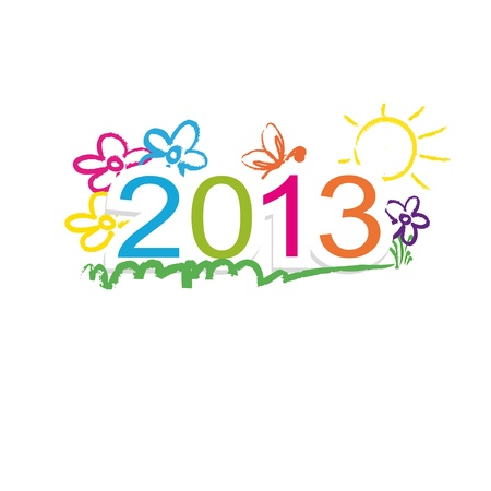Cute and colorful calendar on New Year 2013 Stock Vector - 15312870