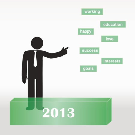 List on New Year 2013 - abstract concept Vector
