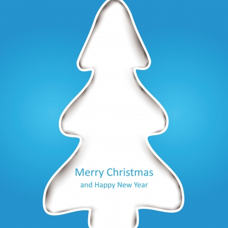Simple and creative card on Merry Christmas Vector