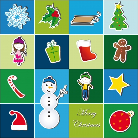 chrismas: Colorful Christmas background with Christmas symbol