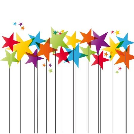 estrella caricatura: Lindo y simple Tarjeta de Navidad con estrellas de Navidad