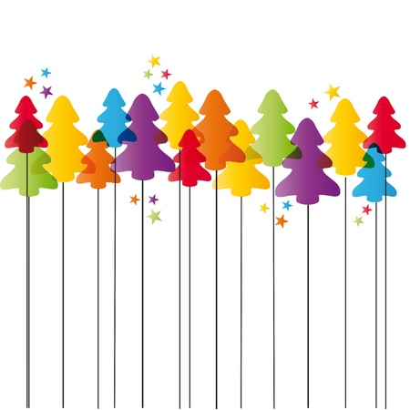 animate: Cute and simple Christmas card with Christmas tree