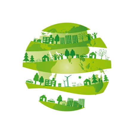 eco energy: Ecology concept you can use on Earth Day