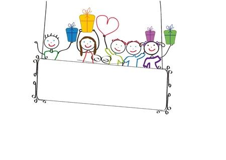 happy birthday baby: Tarjeta colorida linda en tu cumplea�os feliz Vectores