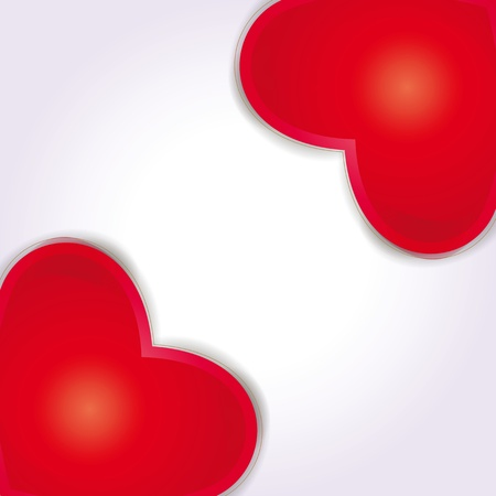 Cute and simple background with red hearts Vector