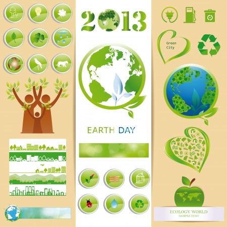 Ecology elements you can use on Earth Day Stock Vector - 16840262