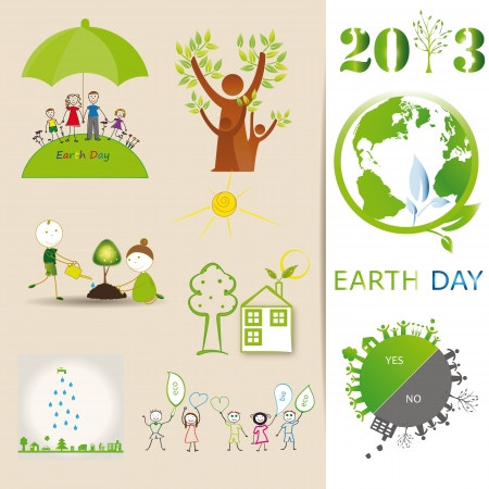 Ecology elements you can use on Earth Day Vector