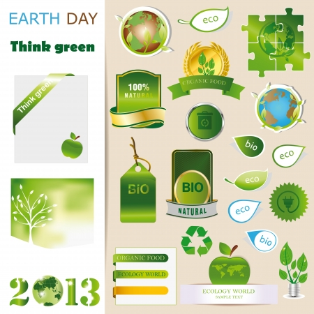 Ecology elements you can use on Earth Day Stock Vector - 16840268