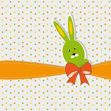 Colorful easter card with doodles and bunny Stock Vector - 17223045